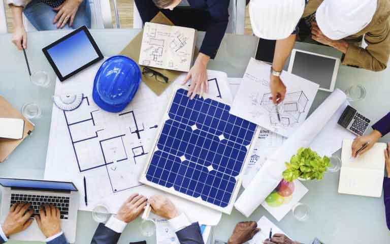 diseño diversos paneles solares industriales